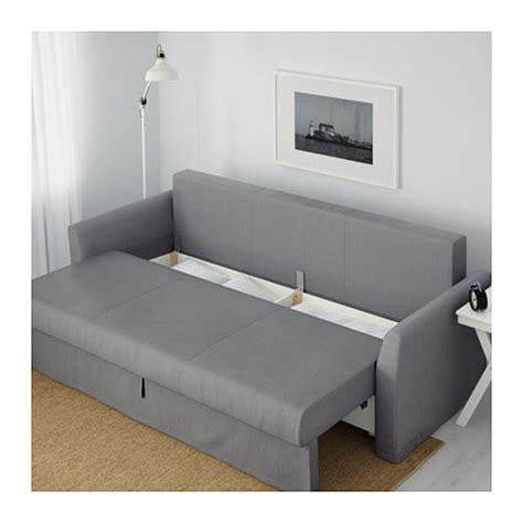 ikea holmsund sofa bed holmsund three seat sofa bed nordvalla medium grey ikea