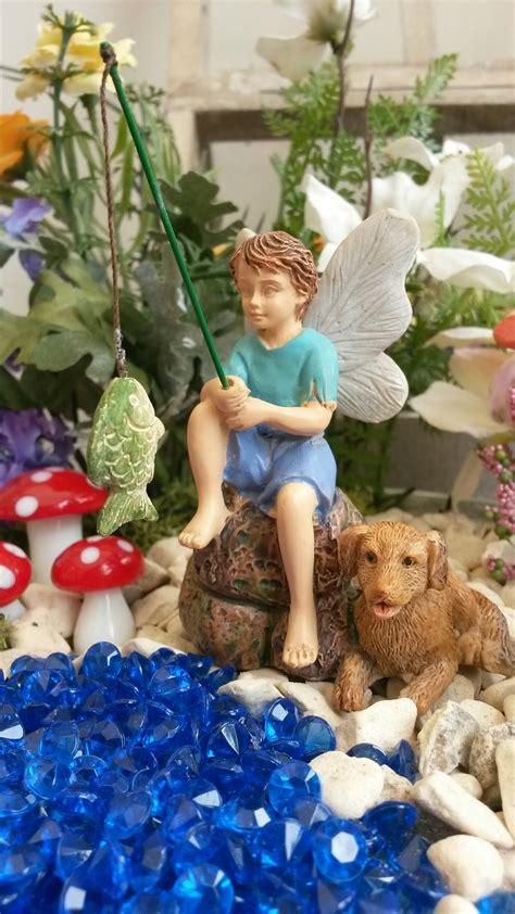 fishing boy fairy fairygardensukcouk
