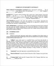 investors contract template assignment contract form