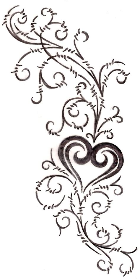 swirly tattoo designs with barbed wire swirls 4 by metacharis on