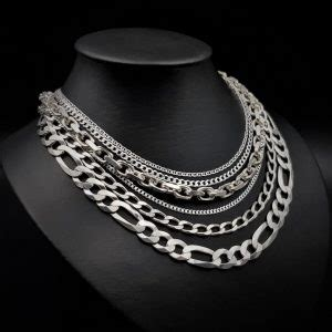 medidas de cadenas de plata para hombres cadenas de plata para mujer y para hombre