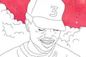 coloring book chance the rapper pin kleurplaat rapper paraplu trap 07b on