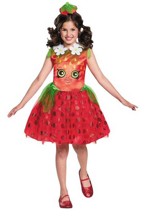 halloween costumes shopkins strawberry kiss classic girls costume