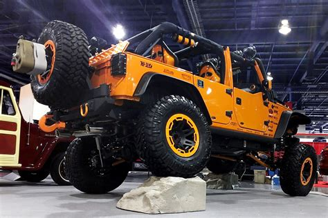 orange jeep wrangler with black rims show off rugged ridge wheels page 22 jk forum com