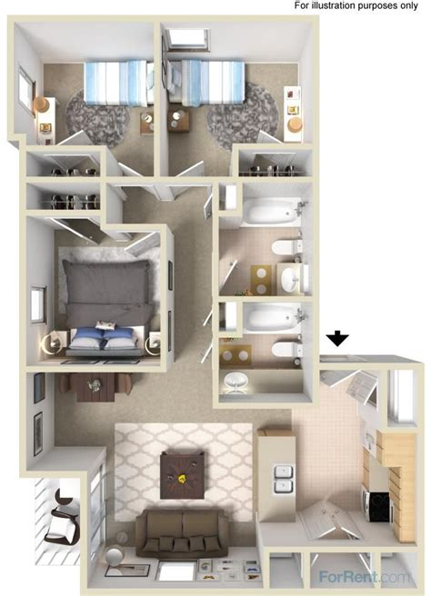2 bedroom apartments with washer and dryer 3 bedroom floor plan comes with washer and dryer