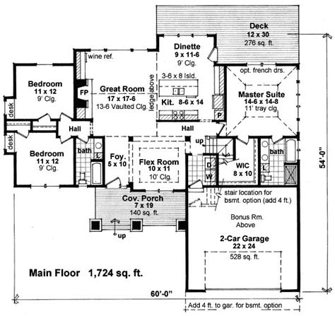 one story house plans with bonus room this one story house plan gives you over 1 700 square feet