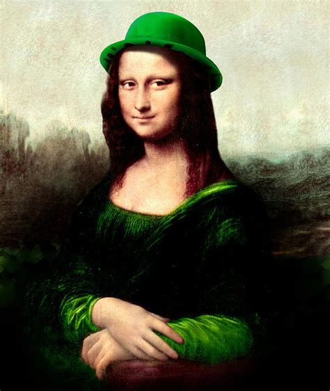 google images mona lisa lucky mona lisa painting by gravityx designs st patrick
