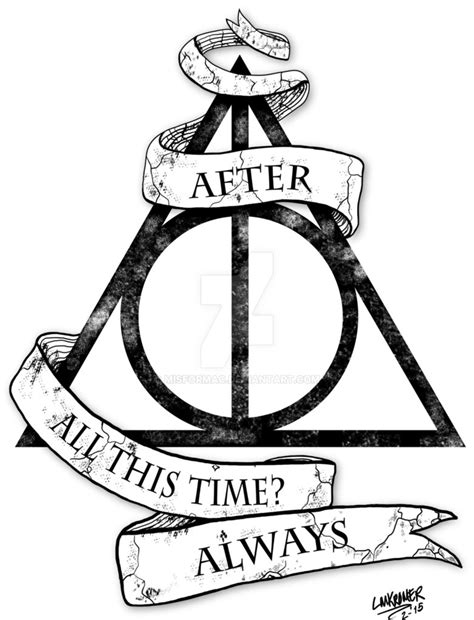 harry potter deathly hallows tattoo design by misformac on