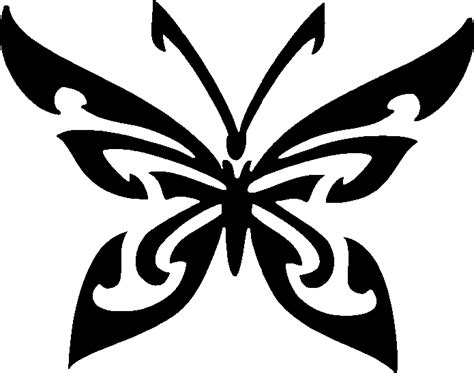 tribal pattern stencil tribal butterfly stencil tag body art clipart best