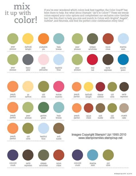 colorcombinationschartpage card making pinterest