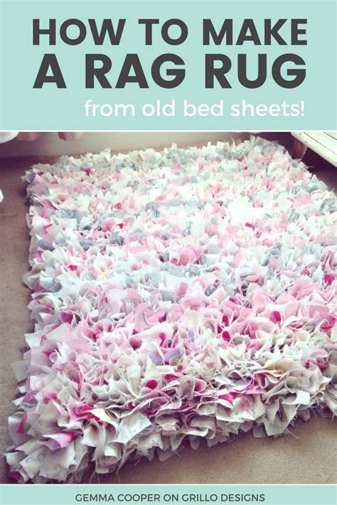 how to make a shaggy rag rug how to make a diy rag rug using bedding learning
