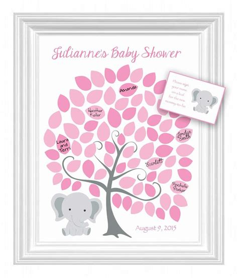 Alternative Baby Shower by Baby Shower Guest 16x20 Sign In Tree Poster Elephant