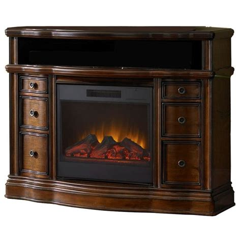 shop allen roth    mink wood electric fireplace