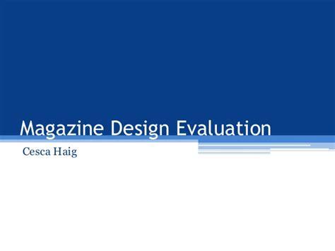 Magazine Layout Evaluation | magazine design evaluation
