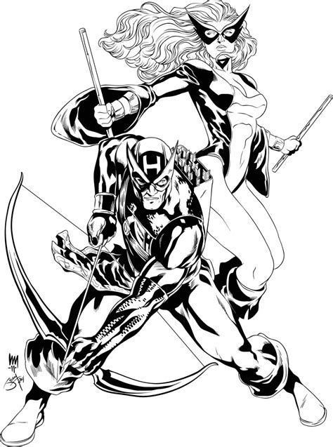 hawkeye coloring pages    print