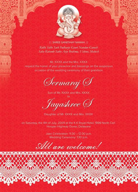 nepali wedding card templates indian wedding card 01 3 colors by studio designs on