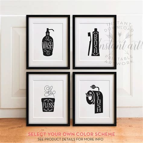 bathroom art printables 25 best ideas about bathroom printable on pinterest