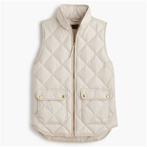 Quilted Vest by J Crew Beige Excursion Quilted Vest Lyst