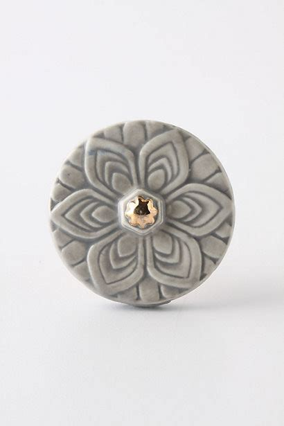 Anthropologie Knobs by Edwardian Knob Grey Cabinet And Drawer
