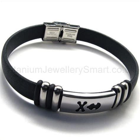titanium leather mens bracelet 18802 163 59 titanium