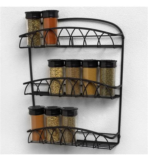 Metal Wall Spice Rack Wall Mounted Spice Rack In Spice Racks