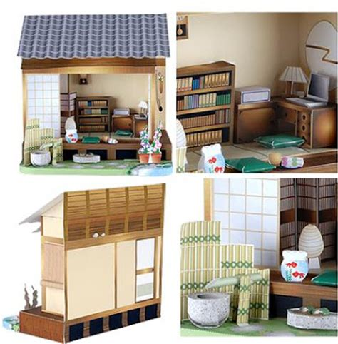 Papercraft Dollhouse - japanese printable papercraft trials ireland