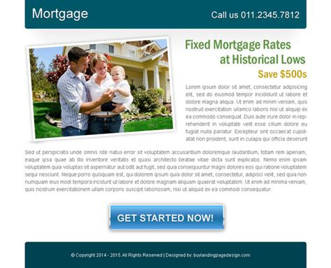 mortgage landing page templates top 20 ppv landing page designs template exles 2014
