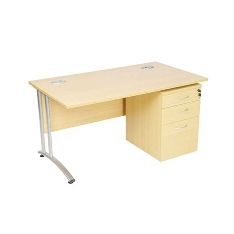 New Desk by New Rectangular Desk With Silver Cantilever Frame Wooden