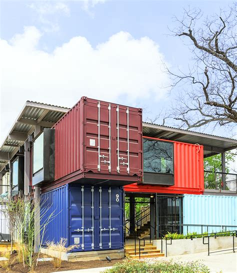 Design Milk Shipping Containers | a bar built from shipping containers design milk