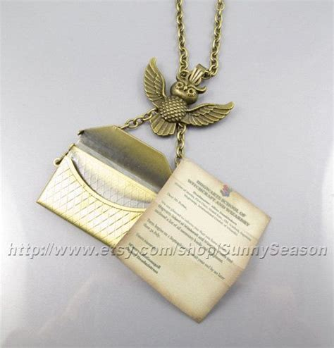 Hogwarts Acceptance Letter Necklace Posts Letter Necklace And In On