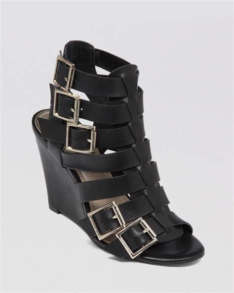 wedge gladiator sandals vince camuto gladiator wedge sandals martez in black lyst
