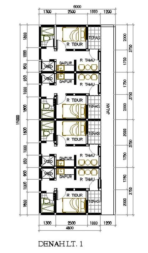desain rumah petakan  lahan   rumah kontrakan pinterest design