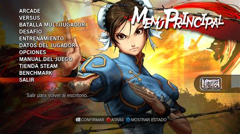 Free Online Arcade Games ultra street fighter 4 main menu by siegfried129 on
