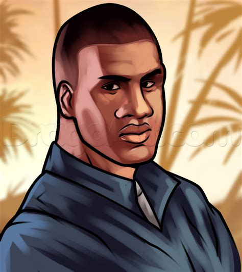 how to in gta 5 how to draw franklin from gta 5 franklin clinton step by step characters