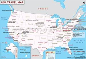 usa travel map