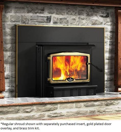 osburn large fireplace insert shroud for osburn 2000