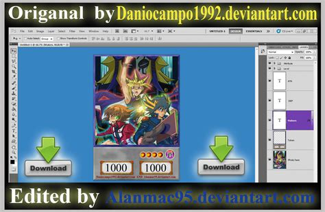 yugioh card template photoshop yugioh anime token card template by alanmac95 on