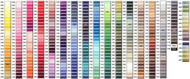 embroidery thread colors 5 best images of tomato color chart marathon embroidery