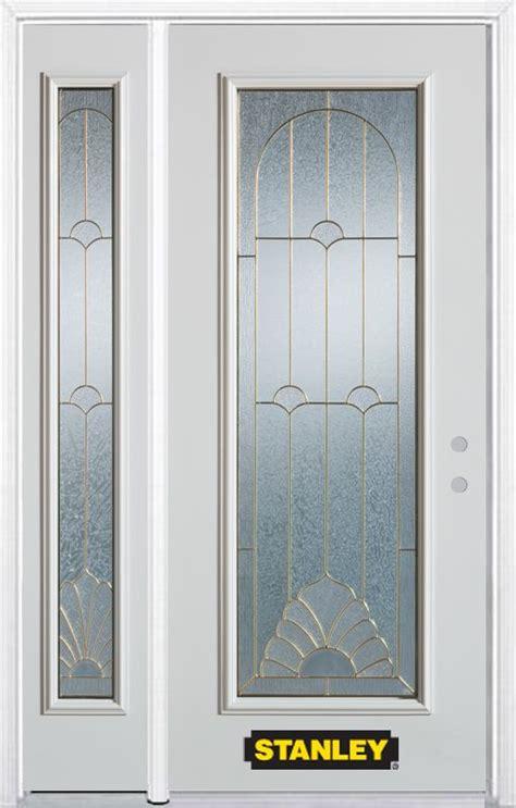 Stanley Exterior Doors Stanley Doors 52 In X 82 In Lite Pre Finished White Steel Entry Door With Sidelites And