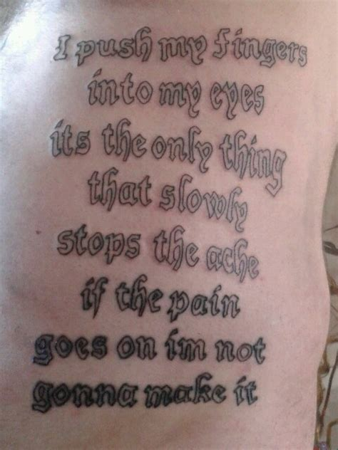tattoo ideas lyrics and quotes 11 slipknot lyrics tattoo