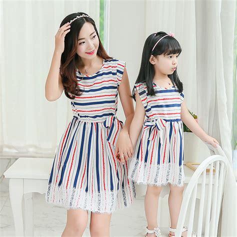 Matching Clothes Store 2016 Summer Dress Striped Dresses Matching
