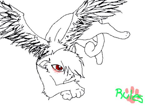 winged cat coloring page winged cat colouring contest entry on scratch