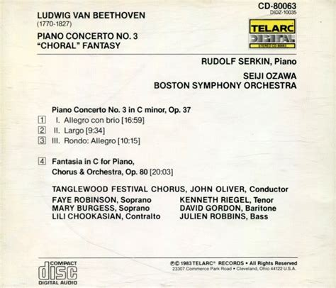 beethoven choral serkin boston munch classical ludwig beethoven piano concerto 3