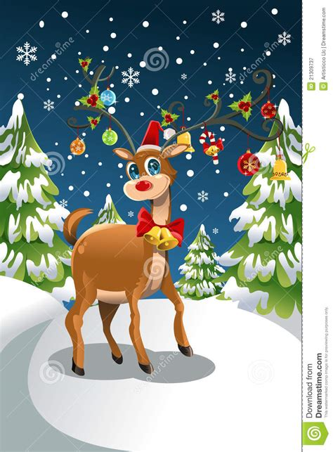 christmas reindeer stock vector image of tradition
