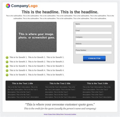 template lead generator wordpress landing pages made easy only 25 mightydeals
