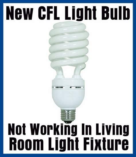 light fixture not working cfl light bulb not working in light fixture dimmer