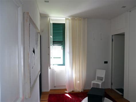 bastone tenda soffitto foto tende in lino ad onda bastone con scivoli a