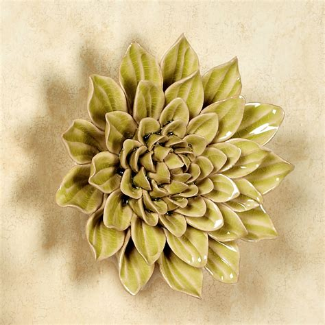 Ceramic Wall Flower Decor by Ceramic Flower Blossom Wall