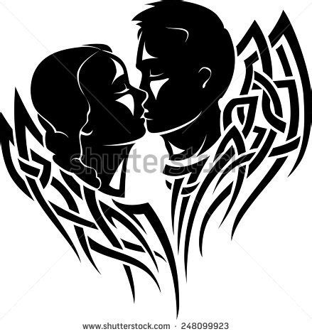 couple tattoo vector couple tattoos tribal stock photos images pictures