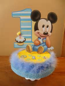 baby mickey mouse 1st first birthday cake by partydecoteresa